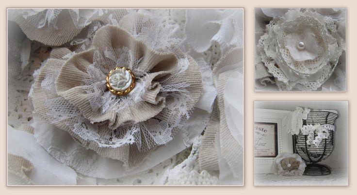 DIY, fabric flowers http://hetknussehoekje.blogspot.be/2015/03/stoffen-bloemen.html