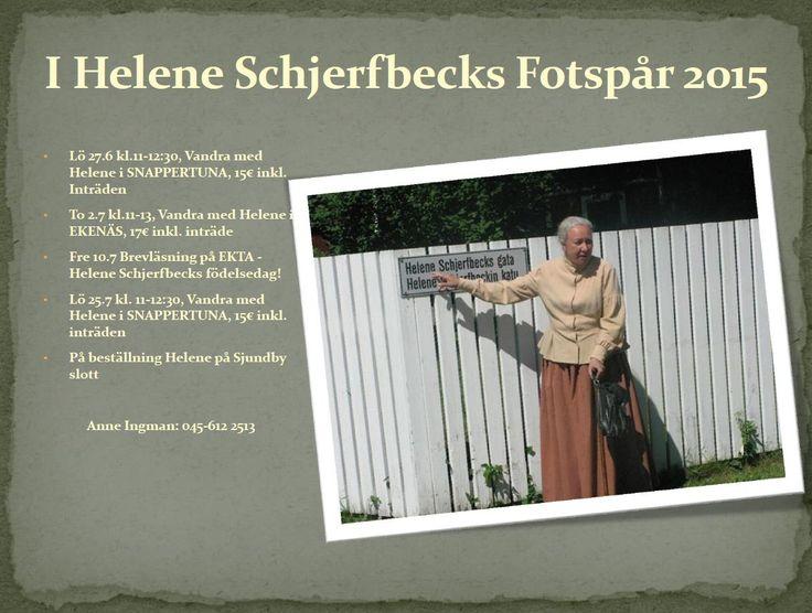 Ta chansen och vandra tillsammans med Helene Schjerfbeck även denna sommar!  #EKTAMuseumcenter #Ekenäs #Snappertuna #Schjerfbeck #Heleneschjerfbeck #Guidetour #Raseborg