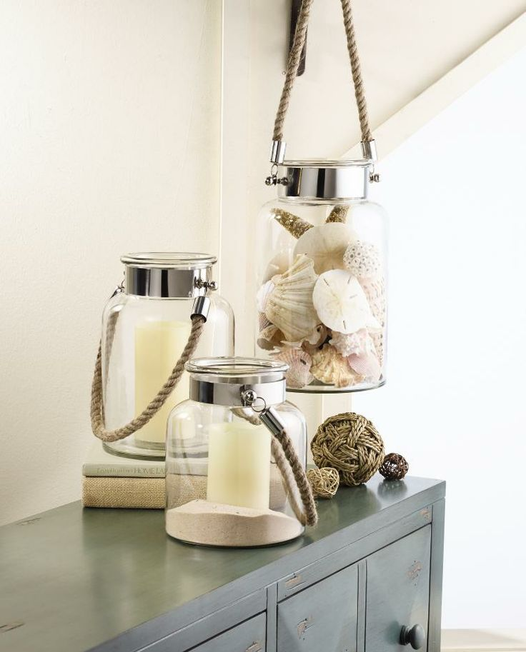 Clear Lanterns With Rope Handles Steinmart Lake Decorhouse