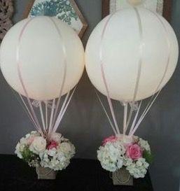 Centros de mesas con globos