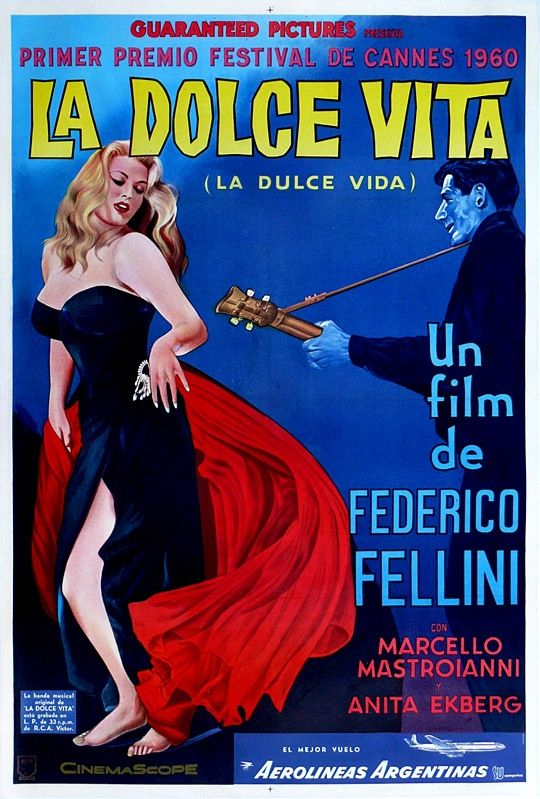 La Dolce Vita  would love to find a copy of the English dubbed version that Fellini directed himself!