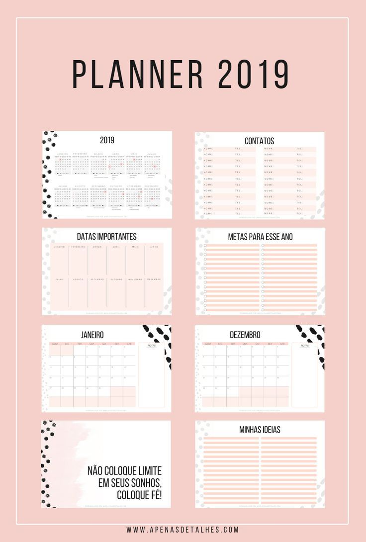 Planner 2019 download gr tis para imprimir tumblr ideias for Planner casa gratis