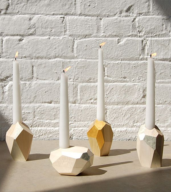 candle holder - wood or clay