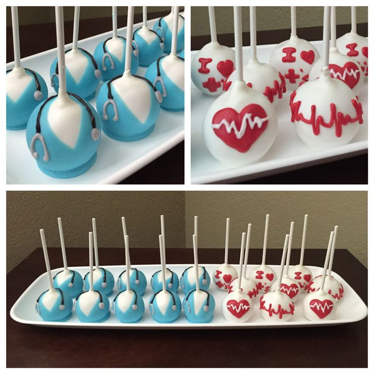 Nurse cake pops. Made May 2016.