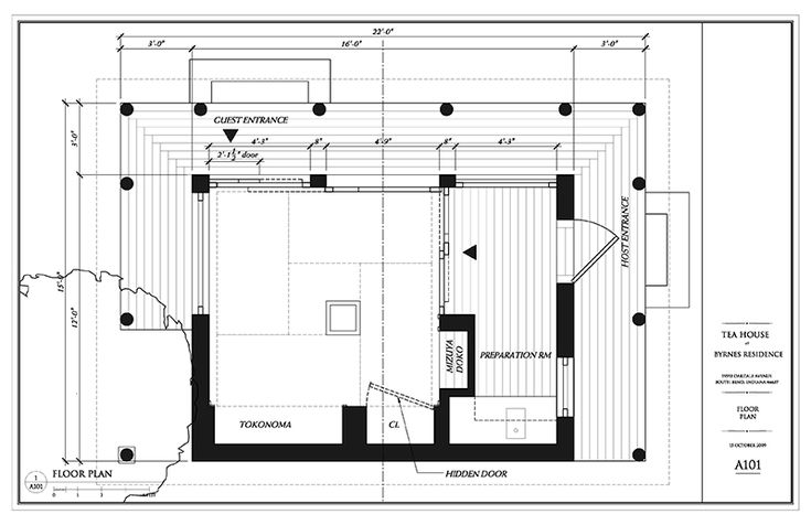 Japanese tea room plan google search josai university for Japanese house plans free