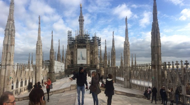 Rooftop, El duomo cathedral, Milan