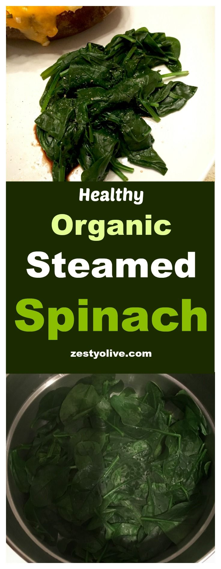 Organic Steamed Spinach With Balsamic Vinegar
