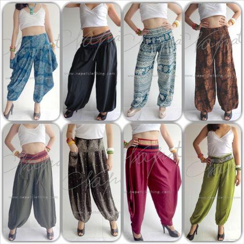 Atacado Thai Rayon calças ocasional das senhoras Aladdin harém mulheres em MOQ pequeno-imagem-Calças curtas e calças-ID do produto:151172845-portuguese.alibaba.com