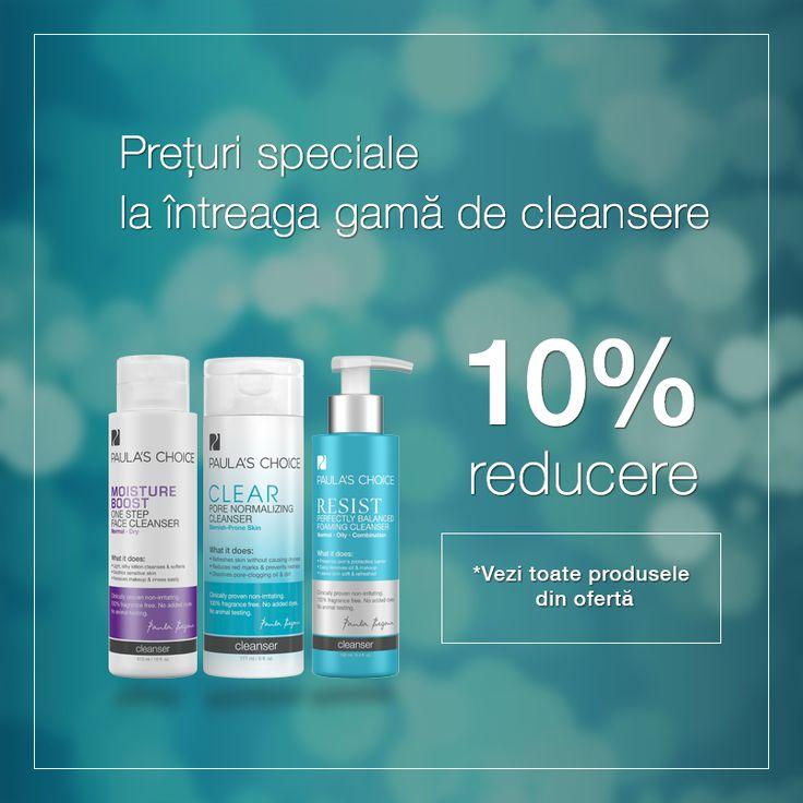 Ai grijă de sănătatea pielii tale și folosește un cleanser atent formulat și plin de ingrediente hrănitoare pentru curățarea tenului tău.