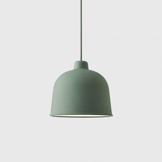 Grain Pendant Lamp in Dusty Green