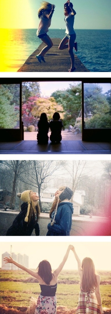 Something like this, only like, one photo from each season and then put together in frames like this. :)