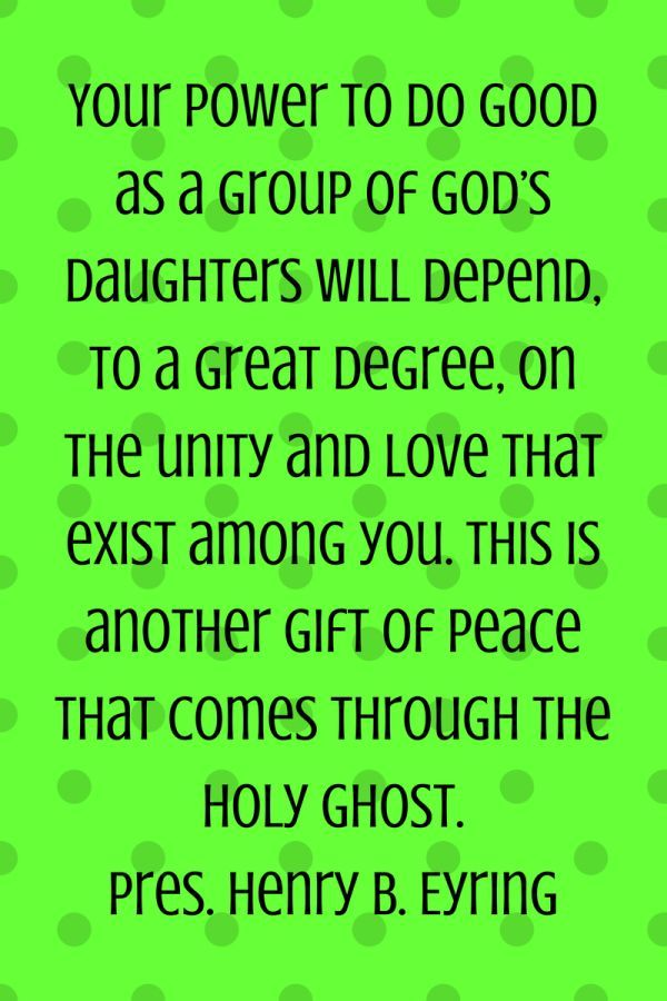 Gift Of Peace Yw Pinterest Young Women Lds And Lds Youth