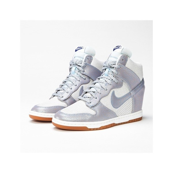 ... I own deez  ) Nike Dunk Sky High Vintage Sneakers Metallic Silver Ice  Blue ... 3fd936605633