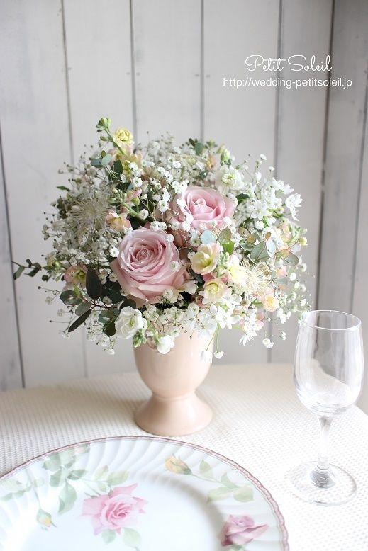 かすみ草 装花 テーブルフラワー