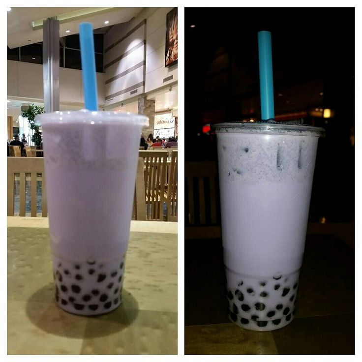 This is the Delicious X-Large Taro Milk Tea with Boba (Gelatin) Balls from the Lollicup @lollicupusa Kiosk in the FoodCourt Area of Westfield Santa Anita Mall on Baldwin Ave. & E. Huntington Dr. in The Los Angeles San Gabriel Valley City of Arcadia, California.