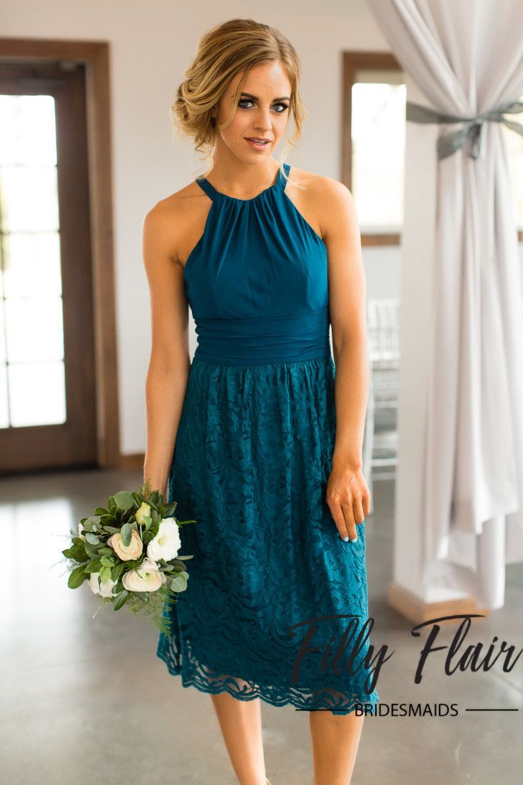 Best 25 teal bridesmaids ideas on pinterest teal bridesmaid fall in love with this fabulous lace teal bridesmaid dress shop our complete collection of affordable bridesmaid dresses at filly flair ombrellifo Choice Image