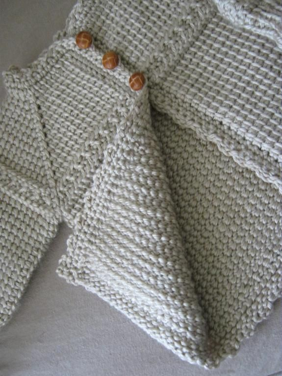 Tunisian Crocheted Baby Sweater by CarlaJC | Crocheting Ideas