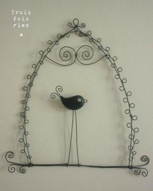 400 best images about fil de fer on pinterest sculpture. Black Bedroom Furniture Sets. Home Design Ideas