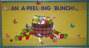 An A-Peel-ing Bunch of Preschoolers.  Take their picture and put inside of the apple?