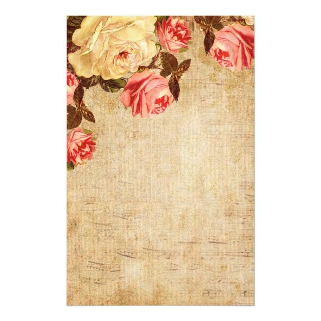 Vintage Floral Stationery Zazzle Com In 2020 Floral Stationery Vintage Stationery Stationery