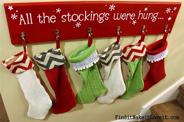 DIY Stockings from thrift store sweaters!