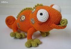 Amigurumi chameleon by lilleliis