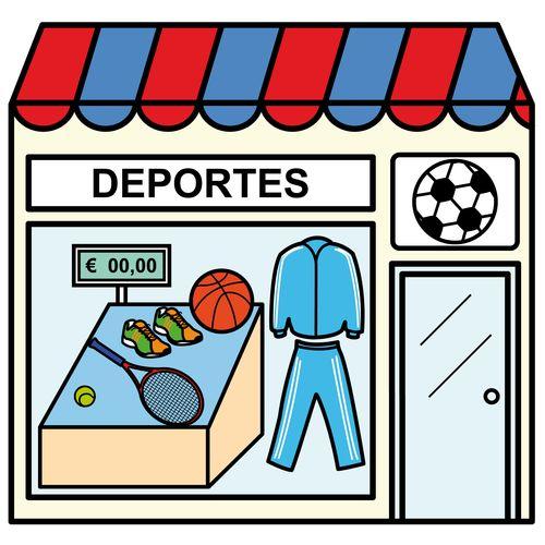 Pictogramas ARASAAC - Tienda de deportes.