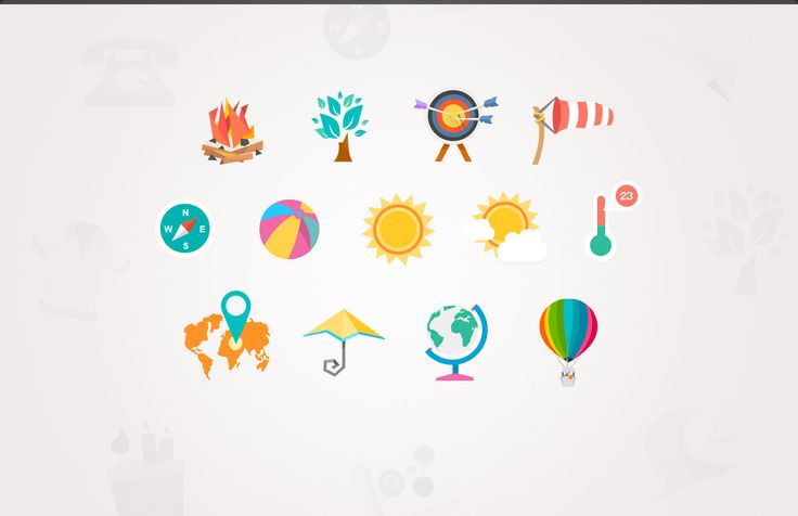<p>A colorful flat icon set that will make your website or mobile application shine, that's a given. It works best with a modern flat, metro look and feel website.</p>