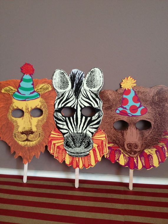 Circus Masks Vintage Circus Inspired Wedding by LeilaAndLace