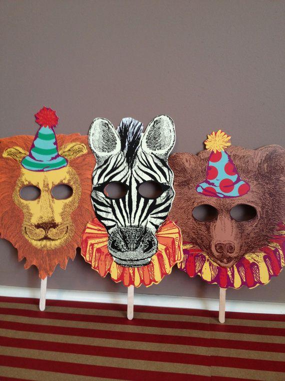 Circus Masks Vintage Circus Inspired Wedding by LeilaAndLace