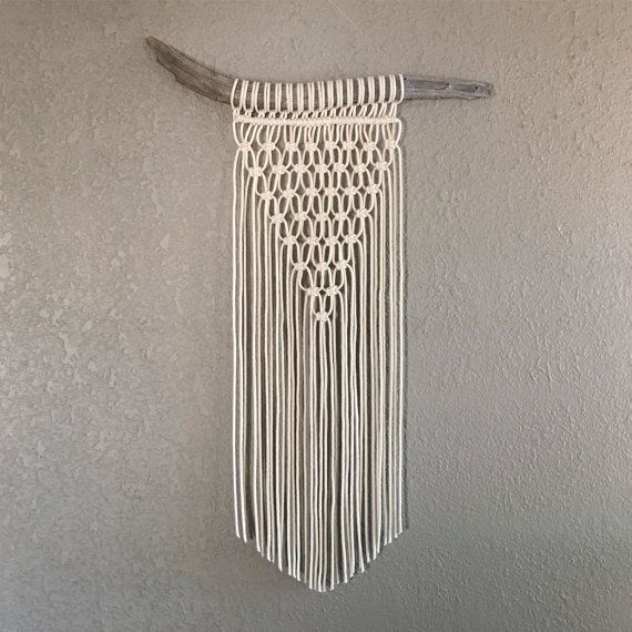 Macrame Wall Hanging on Driftwood by MsKatieMade on Etsy.                                                                                                                                                                                 More
