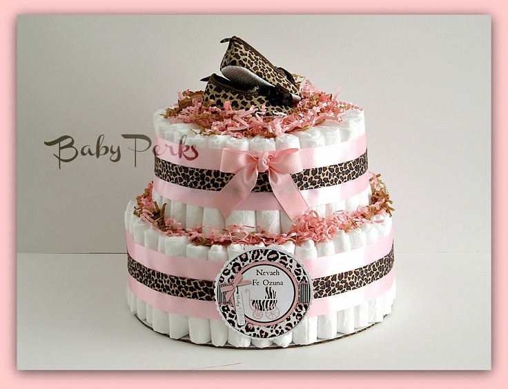 Items Similar To Safari Diaper Cake, Safari Girl Baby Shower , Cheetah  Diaper Cake , Safari Baby Shower Decoration On Etsy