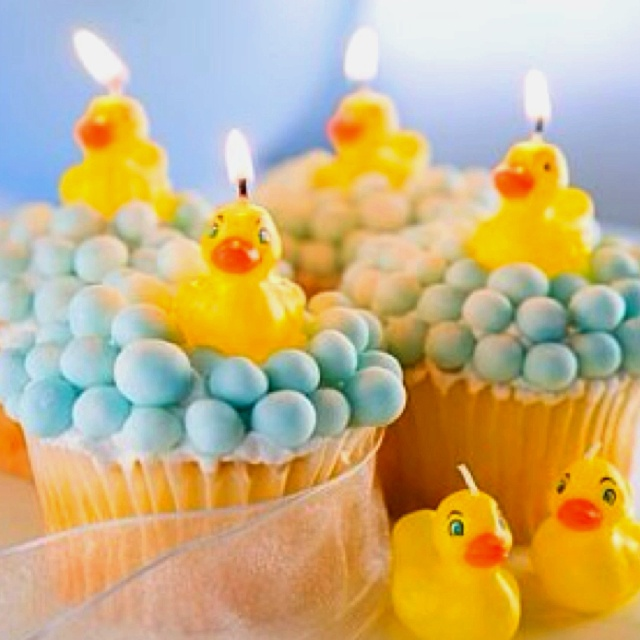 Rubber-duck cupcakes! How cute!!: Shower Ideas, Ducky Candle, Rubber Ducky, Ducky Cupcakes, Cup Cake, Party Ideas, Baby Shower