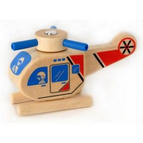 Click Clack Helicopter | Wooden Vehicles - Village Toys