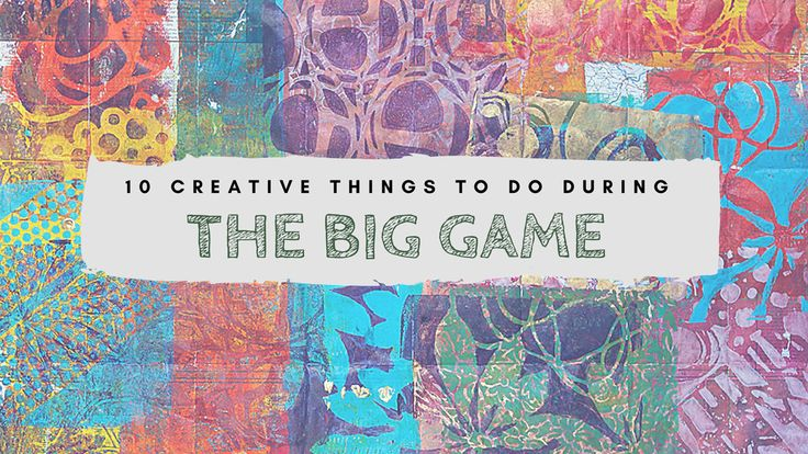 Just because today is the biggest football game of the year doesn't mean your passion for mixed media has to get pushed aside. Au contraire, creative friends! We think this grand event is the perfect opportunity for taking on a few artistic projects.