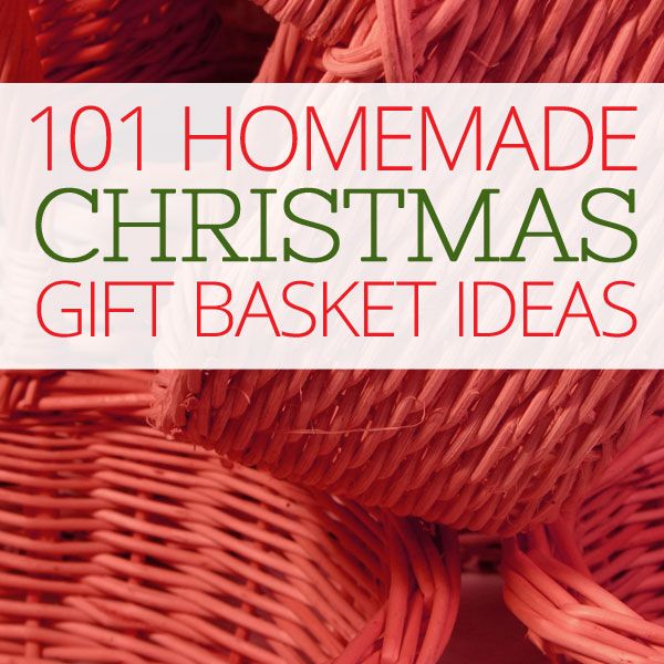 101 Homemade Christmas Gift Basket Ideas - Ideas for themes and what to include in each basket idea - So much inspiration! | Ohladee