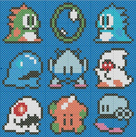 BUBBLE BOBBLE!!  I am not the only video game loving, cross stitching granny trapped in a youngster's body in the world!