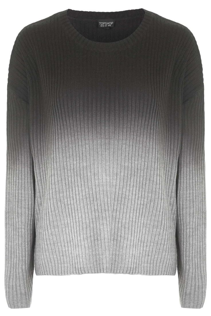 Photo 1 of Dip-Dye Ribbed Knit Jumper