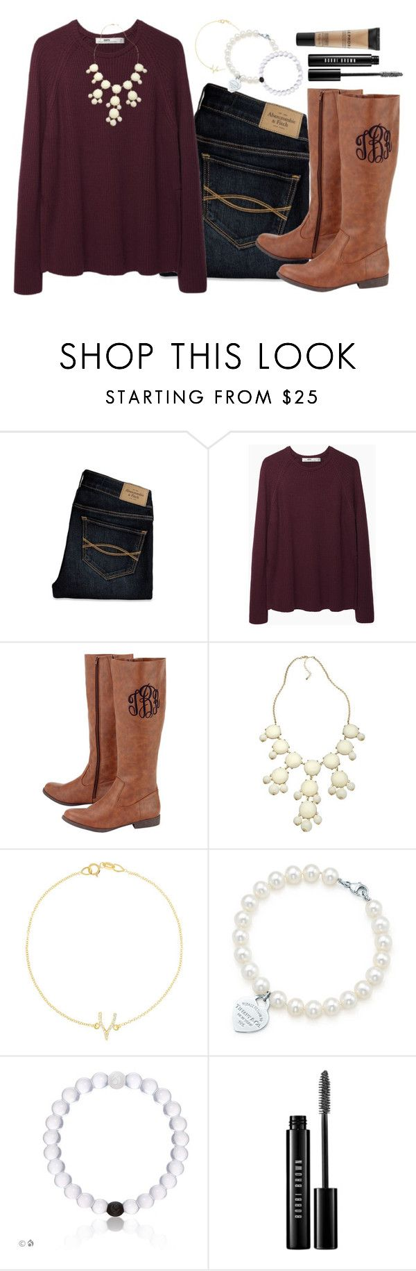 """monogram boots!¡☕️"" by horsegirly1234 ❤ liked on Polyvore featuring Abercrombie & Fitch, Hope, Blu Bijoux, Jennifer Meyer Jewelry, Tiffany & Co., Bobbi Brown Cosmetics and Sephora Collection"