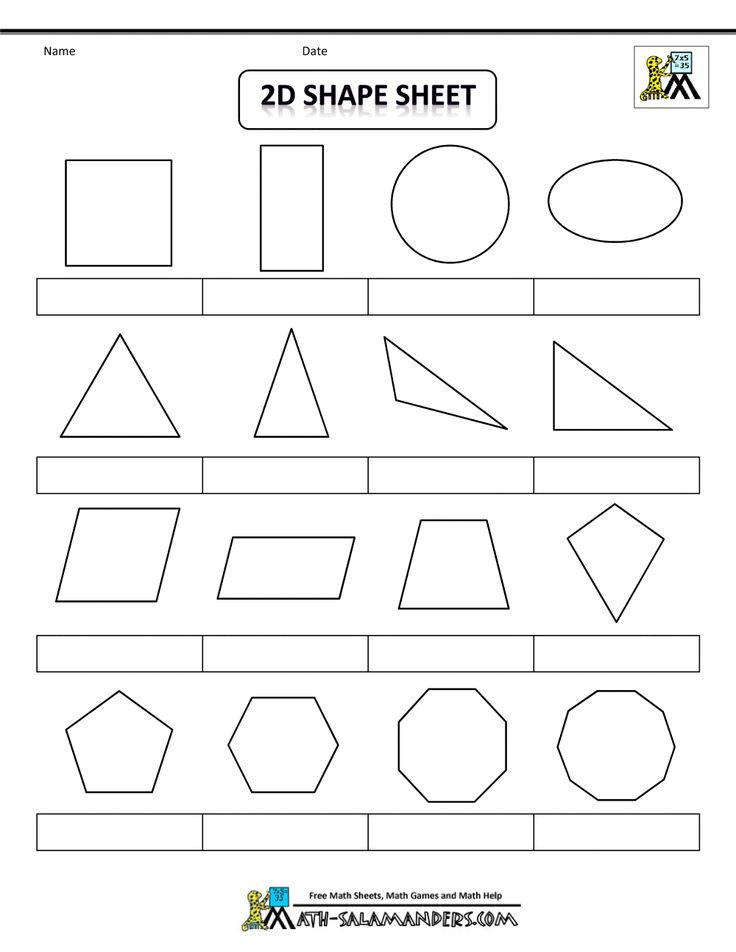 The 25+ best 3d shapes worksheets ideas on Pinterest | 2d shapes ...