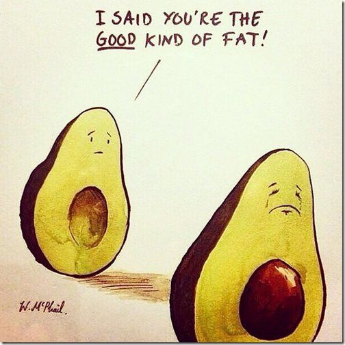 I said you're the good kind of fat! ~avocado                                                                                                                                                                                 More