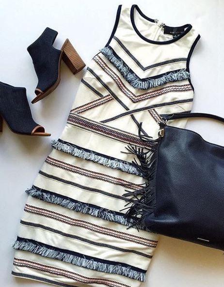 Embroidered Fringe Jersey Sheath Dress at Nordstrom - Trendslove