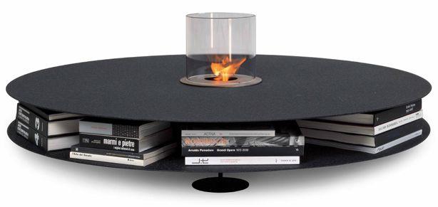Table basse multifonctions – Jardinière, rangement et cheminée - Shoji