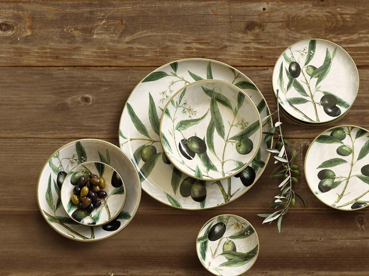 Our Painted Olive Branch Dinnerware Collection Inspired By