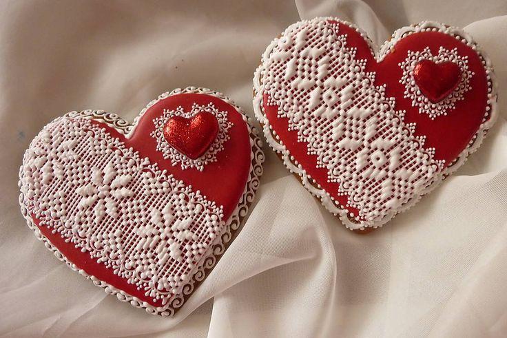 Valentínske medovníkove srdiečko