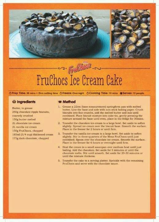 Fruchocs ice cream cake