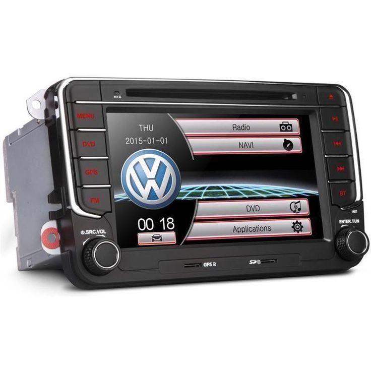 """Annons på Tradera: 7"""" HD pekskärm bilstereo, DVD för VW, Seat, Skoda"""