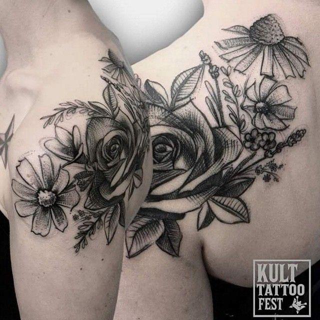Tattoo by @olakoltowska #blackworkers #tattoo #bw #blackwork #blacktattoo