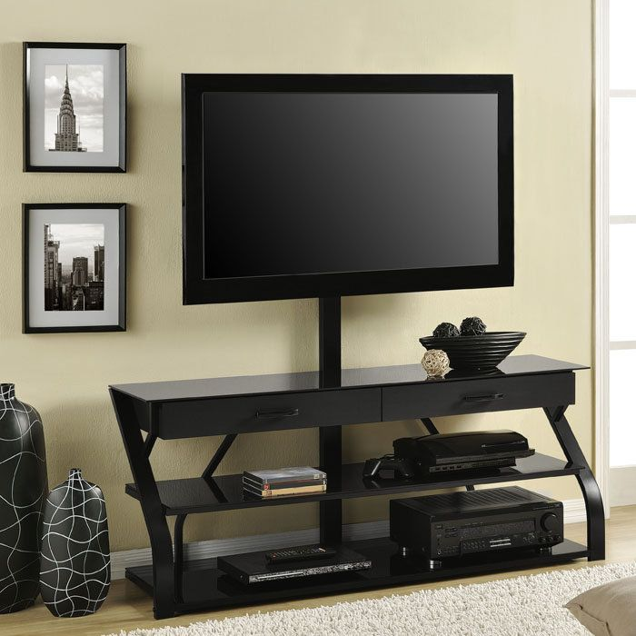 Beautiful Altra Furniture Metal/Glass TV Stand With Mount