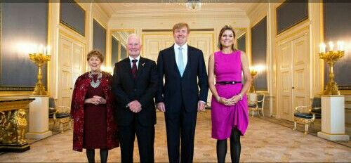 27-10-2014 The Hague Palace Noordeinde;  Queen Maxima and King Willem-Alexander during an audience with David Johnston and his wife Sharon at Palace Noordeinde in The Hague.  The Governor General of Canada is for a 2 day visit in The Netherlands.  #queenmaxima #kingwillemalexander #netherlands #dutch #koninginmaxima #koningwillemalexander  #nederland #canada #davidjohnston #paleisnoordeinde #denhaag #thehague